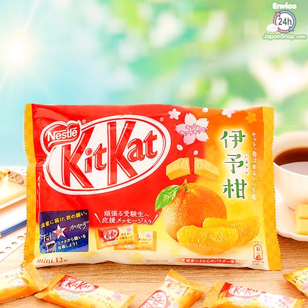 Probamos en JaponShop.com el KitKat Japones de naranja Iyokan