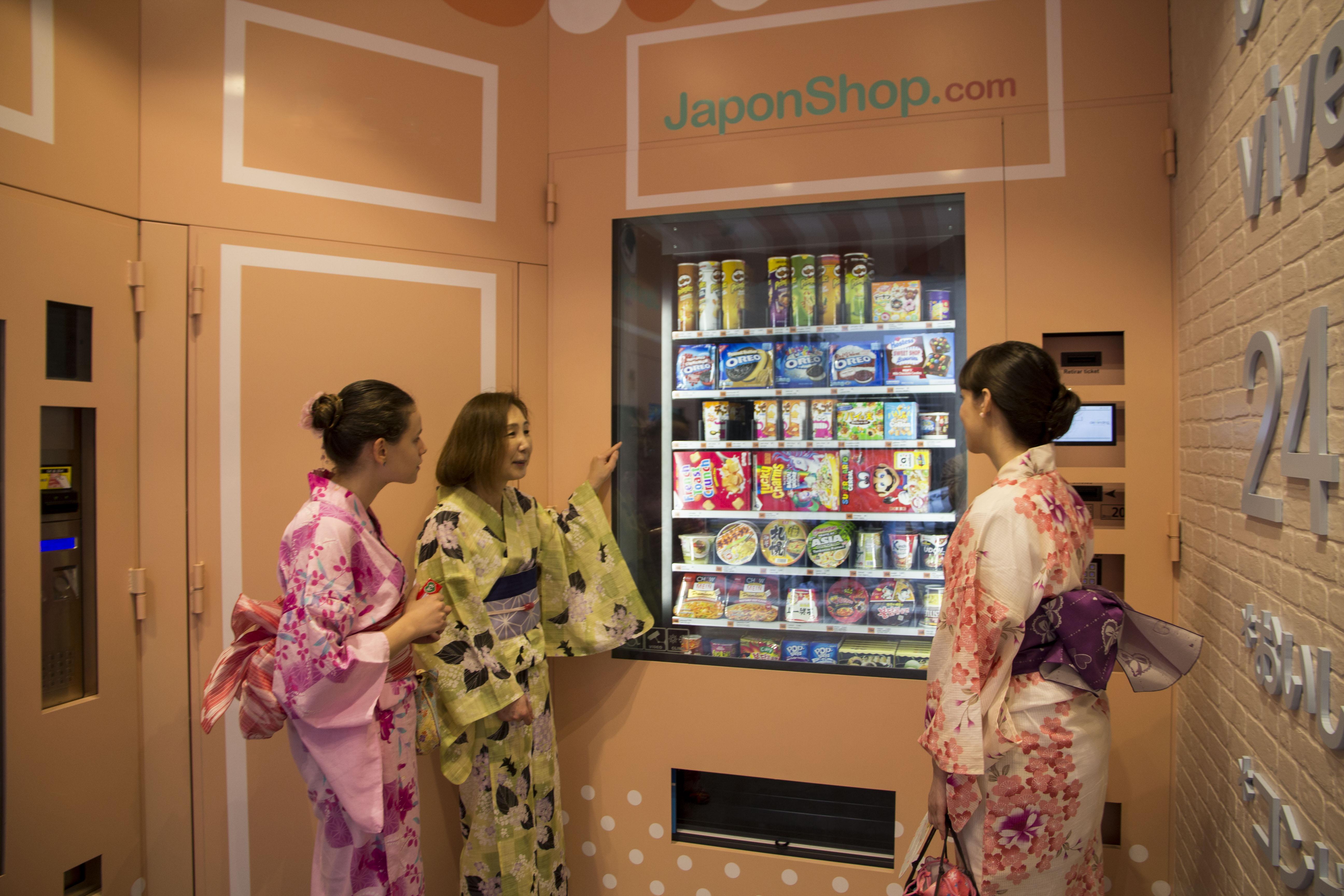 Nueva tienda automática vending de Japonshop