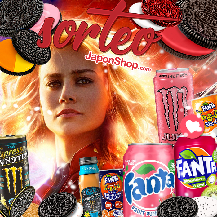 CAPTAIN MARVEL Sorteo Monster, Fanta y OREO
