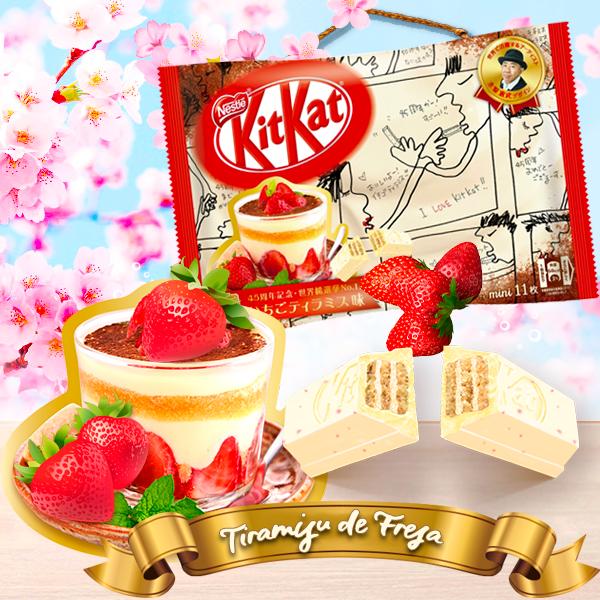 Nuevos Kit Kats Japoneses de Tiramisú de Fresa