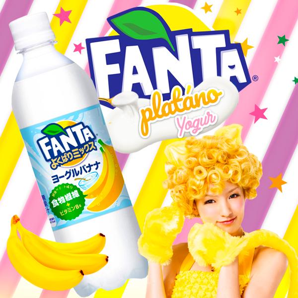 Llega la nueva Fanta de Plátano y Yogur