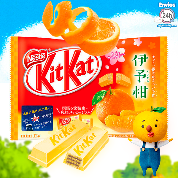 Mini Kit Kats de Naranja Japonesa Iyokan y chocolate blanco