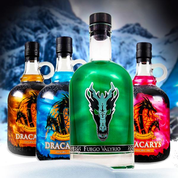 Fuego Valyrio y las bebidas de Dragón Dracarys: Fire, Ice, Blood