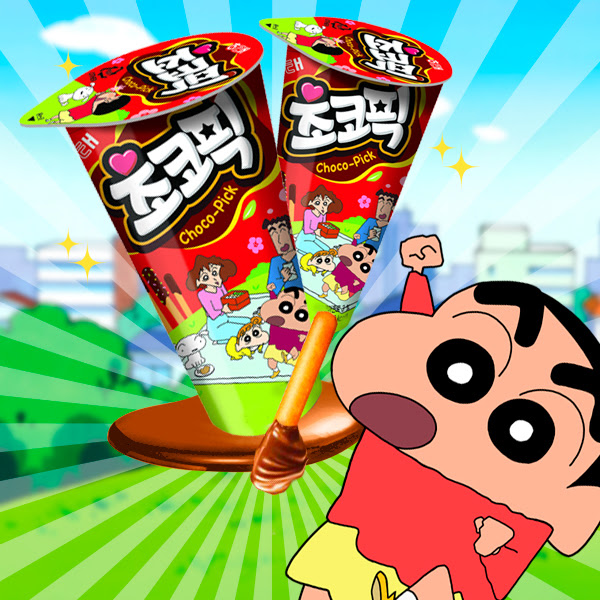 Shinchan  Sticks de Crema de Chocolate y Confeti
