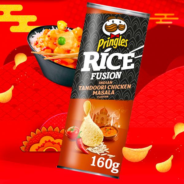 Nuevas Pringles Rice Fusion sabor Curry Rojo