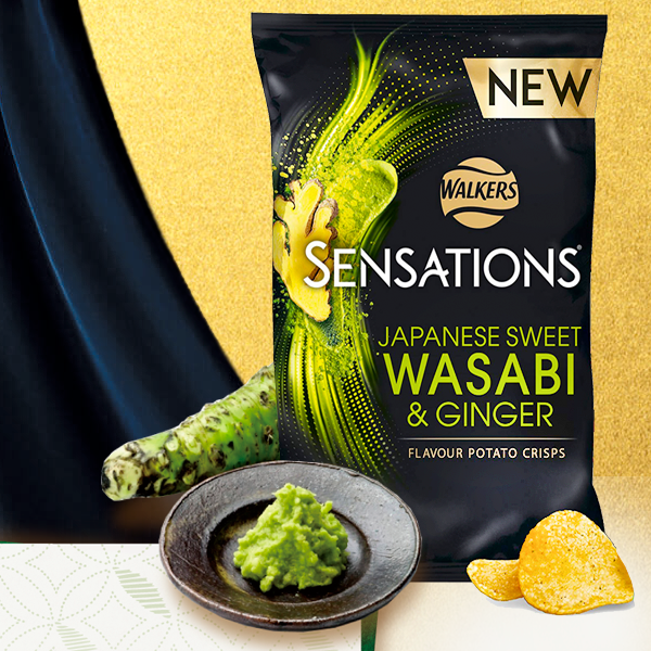 Walkers Lays Sensations Sweet Wasabi Ginger Premium