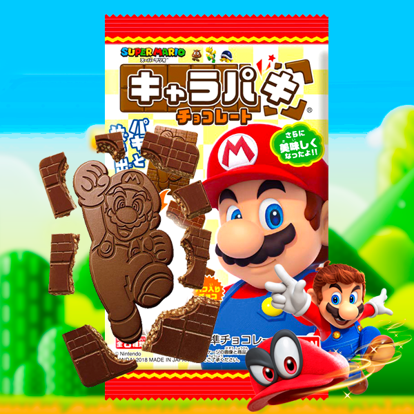 Chocolatina Super Mario con galletas