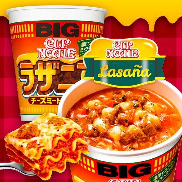 Nissin Cup Noodles Lasaña - Big Cup