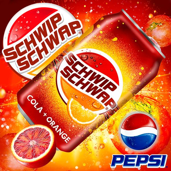 Pepsi Schwip Schwap Cola Naranja