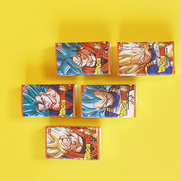 Chicle de Dragon Ball con sabor a Soda Ramune