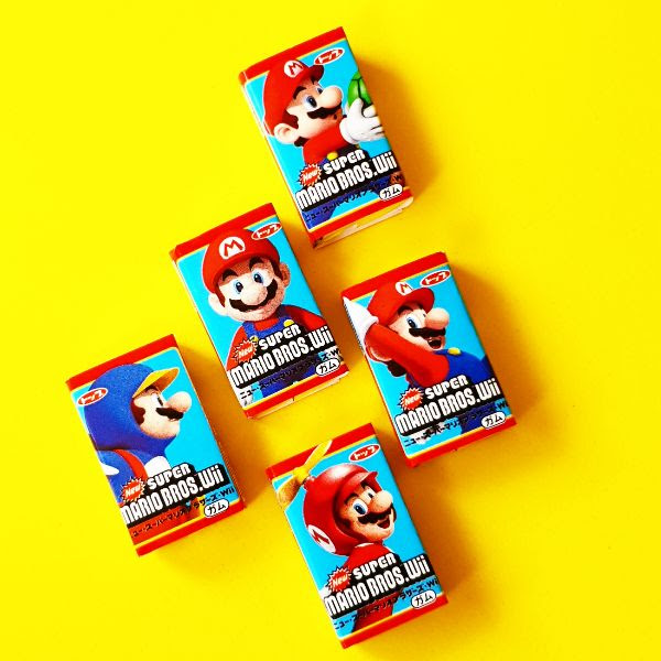 Chicle de Super Mario Bros con Sabor a Naranja