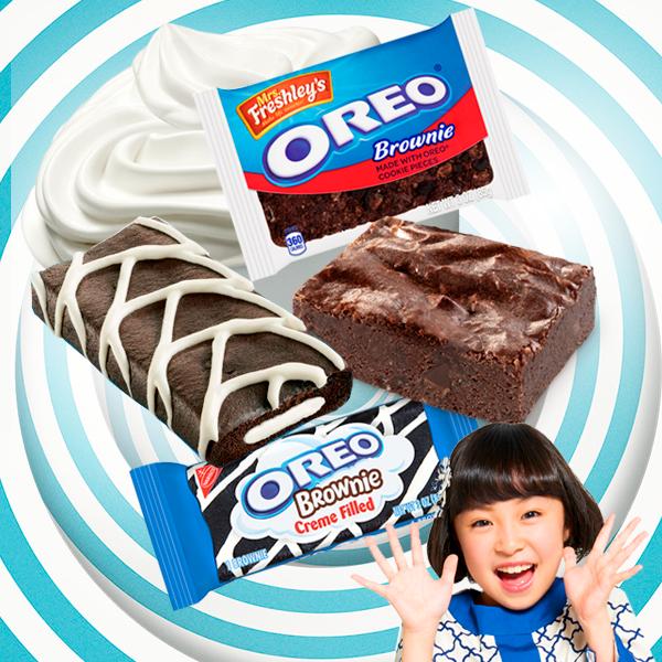 ¿Cuál de estos dos Brownies de Oreo será  tu favorito?