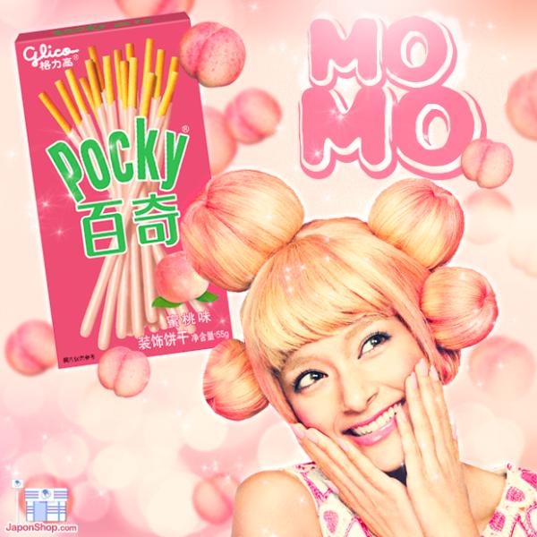 Pocky Crema de Melocotón Japonés Momo