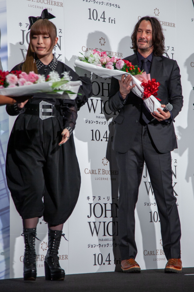 actualidad curiosidades japon  Keanu Reeves en Japón en al premiere de John Wick 3