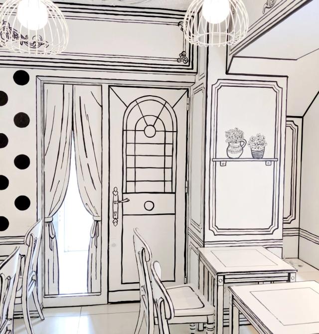 actualidad curiosidades japon  Cafe 2D el bar restaurante que luce como una ilustración