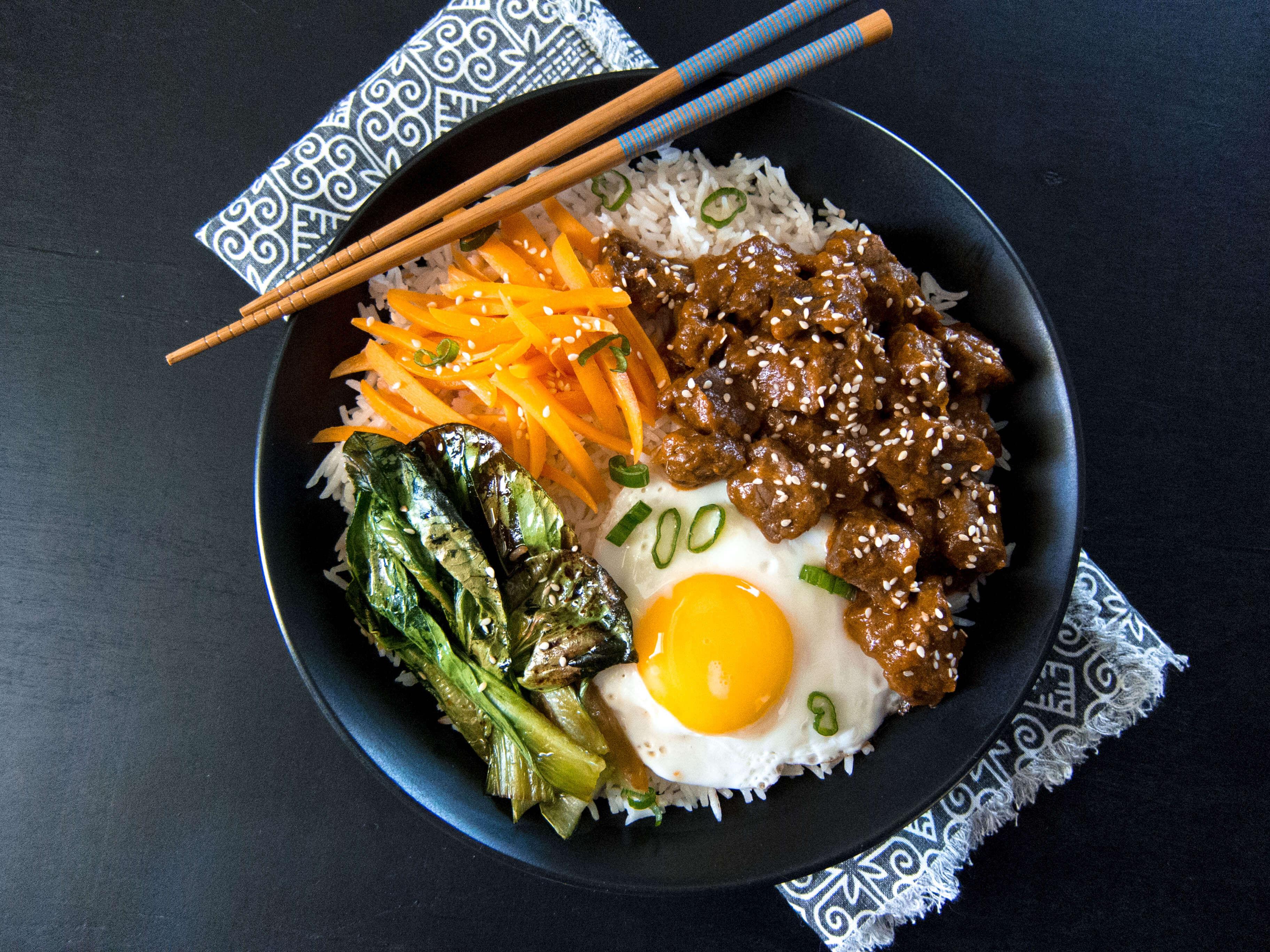 Bibimbap arroz con cosas coreano que mola mil!