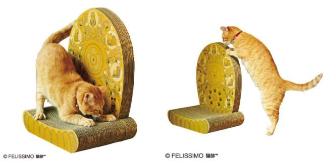 actualidad curiosidades japon  NekoTOP! Rascador estilo Budista que lo parte en Japón!