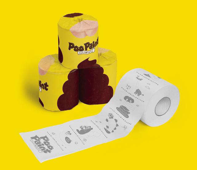 Poo Paint Toilet Paper