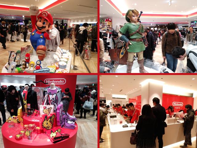 Nintendo Store de Shibuya Parco en Japón - Mario y Link