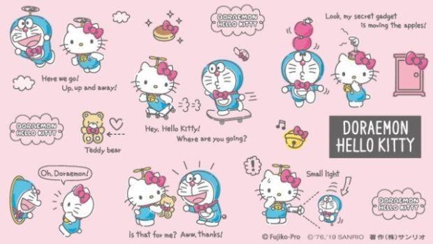 Sin categoría  Hello Kitty X Doraemon! Colaboración del amooooor!!