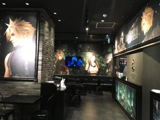 actualidad japon  Final Fantasy VII Remake cafe abre en Tokyo - fotos reales