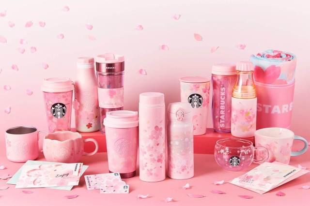San Valentín con el nuevo merchan de Starbucks Japón Sakura Edition