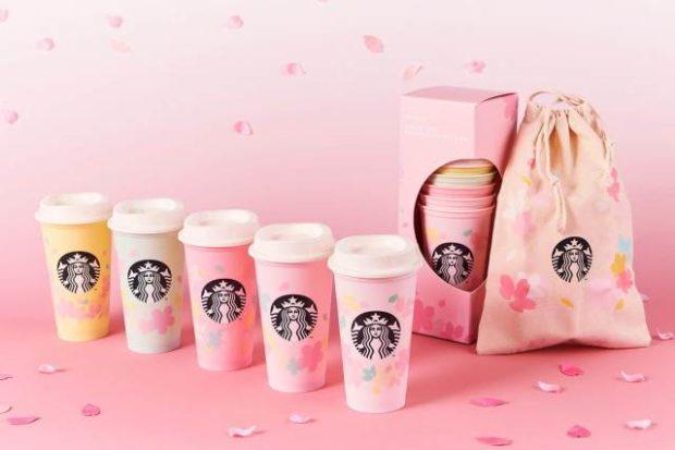 actualidad japon japonshop  San Valentín con el nuevo merchan de Starbucks Japón Sakura Edition