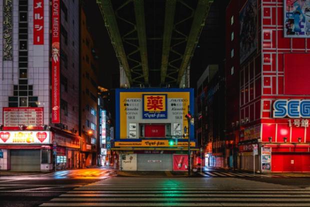 actualidad curiosidades japon  Un paseo por Akihabara sin gente, un espectáculo visual difícil de ver...