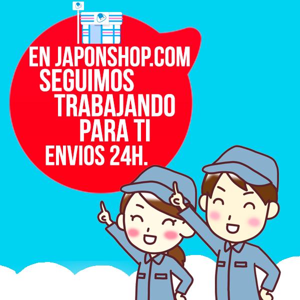 En JaponShop.com seguimos trabajando para ti con envíos 24H