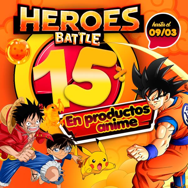 La batalla continúa! ¡Oferta 15% de descuento en Productos de Anime y Manga! ¡Sólo HOY!