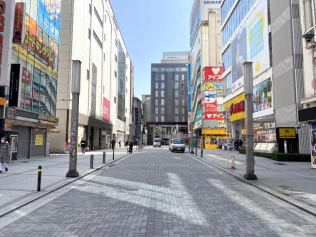 japon  Akihabara, uno de los barrios más turísticos y molones de Japón, vacío