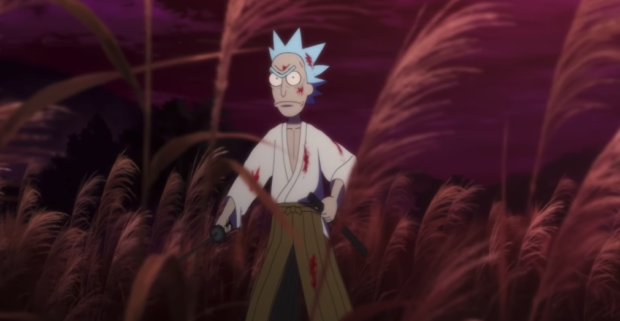 actualidad curiosidades  Corto animado de Rick and Morty: Samurai and Shogun!