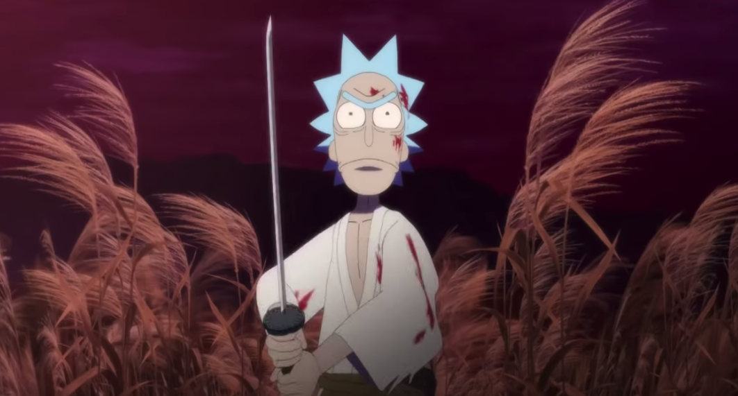 Corto animado de Rick and Morty: Samurai and Shogun!