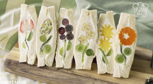 ¡Receta rápida y fácil! Sandwiches de fruta molones que en primavera levanta pasiones!