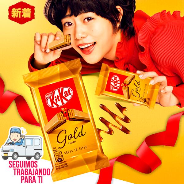 NOVEDAD en Japonshop! Kit Kat Gold Chocolate Blanco y Caramelo