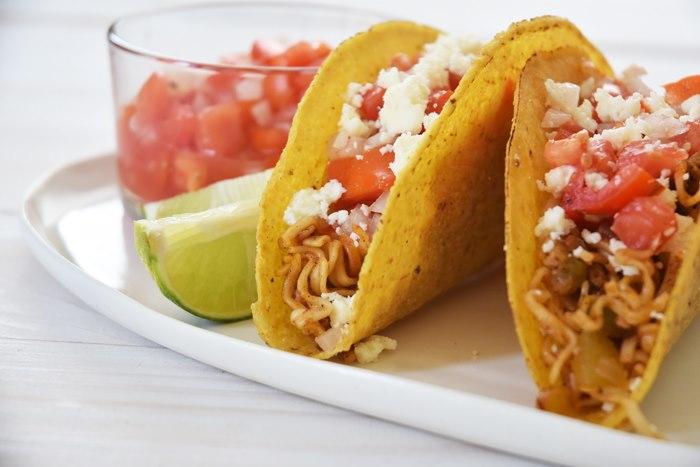 Itadakimasu! Tacos de ramen fáciles y rápidos para disfrutar!