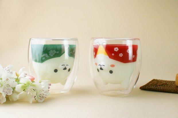 curiosidades japon  ¡Goodglas Japan lanza los vasos Kimono Shiba Inus!