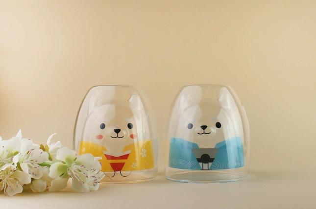 ¡Otros dos vasos elegantones de Shiba Inu para la colección!