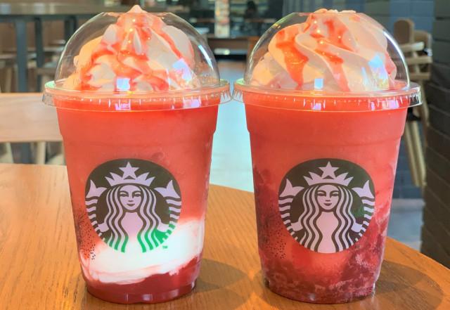 Nuevos Frapuccinos de Starbucks Japón! Shuwatto Ichigo Frappuccino y Gorotto Ichigo Frappuccino