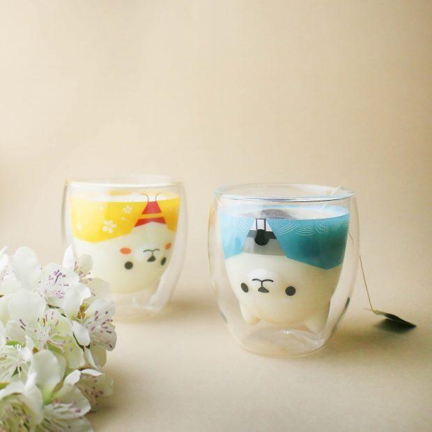 curiosidades japon  ¡Otros dos vasos elegantones de Shiba Inu para la colección!