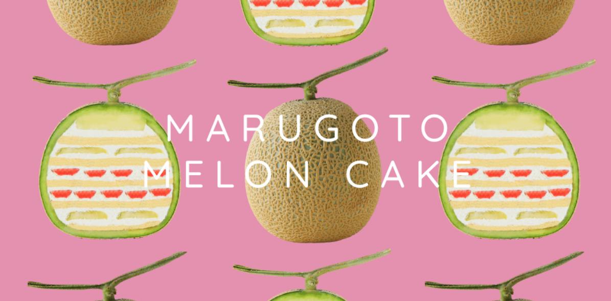 Marugoto Melon Cake los nuevos pasteles de frutas que te sorprenderán.