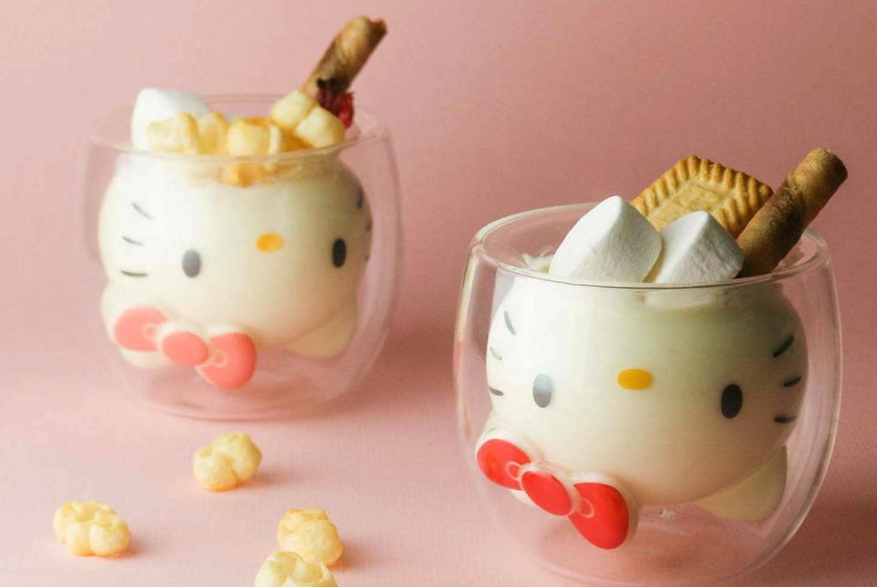 Los vasos de Hello Kitty que conquistan Japón