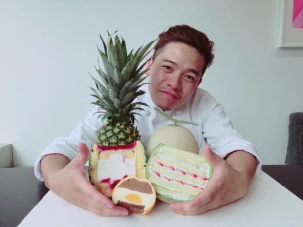 comida curiosidades japon  Marugoto Melon Cake los nuevos pasteles de frutas que te sorprenderán.