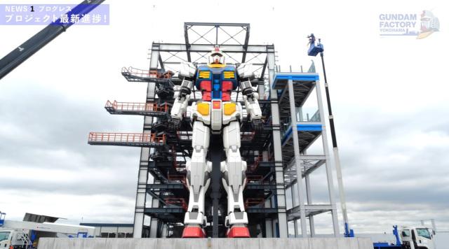 ¡El nuevo Gundam a tamaño real está listo y preparado en Yokohama!