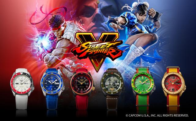 Seiko lanza relojes deportivos inspirados en los personajes de Street Fighter