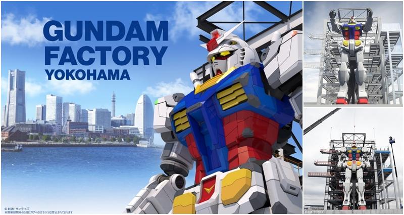 Gundam Factory Yokohama con el Gundam escala real ¡que ahora se mueve!