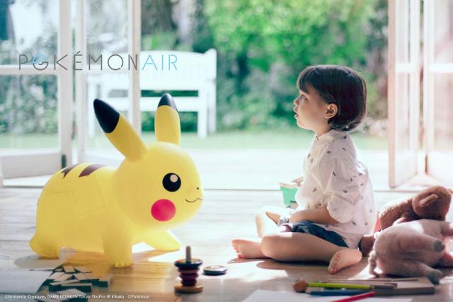 Un nuevo Pikachu inflable apareció!