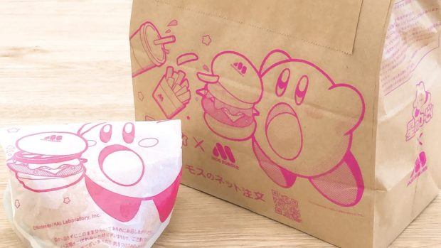 actualidad curiosidades japon  Moss Burguer lanza campaña con Kirby! Bolsas y wraps súper kawaii!!