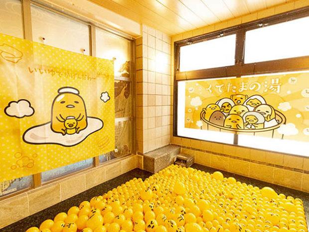 actualidad curiosidades japon  Planazo, ir a un spa en Japón temático de Kero Kero o Gudetama!