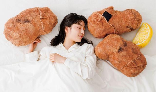 Visto en Japón! Almohadas de pollo frito con sonidos ASMR!!